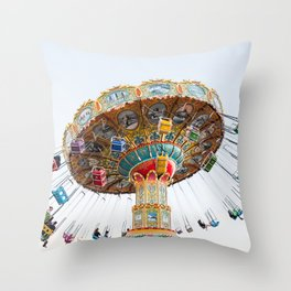 Santa Cruz Tilt A Whirl Throw Pillow