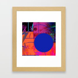 Blue Sticker Abstract Framed Art Print
