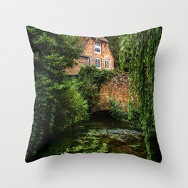 House By The River Throw Pillow