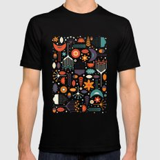 Flora & Fauna Black Mens Fitted Tee LARGE