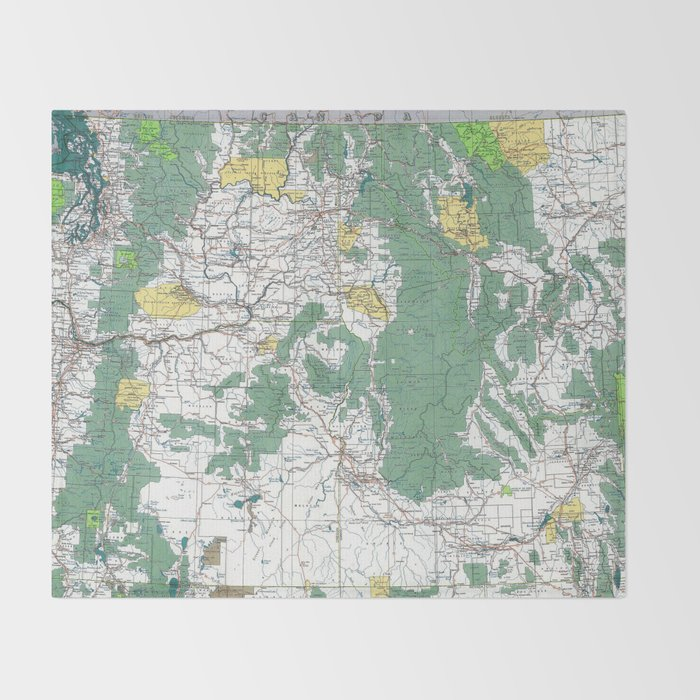Pacific Northwest Map Throw Blanket
