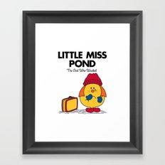 Little Miss Pond Framed Art Print