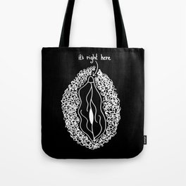 it's right here (inverse) Tote Bag