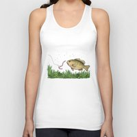 fishing Tank Tops featuring Fishing by Eugenia Hauss