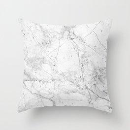 Nordic White Marble Throw Pillow
