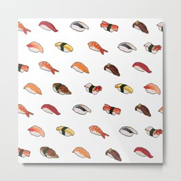 Pixelated Sushi Metal Print