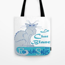 Le Chat Blanc Parody Vector Tote Bag