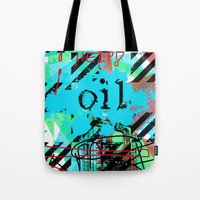 oil Tote Bags featuring Oil by Zoé Rikardo