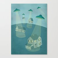 ufo Canvas Prints featuring UFO by Banessa Millet