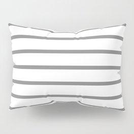 Horizontal Lines (Gray/White) Pillow Sham