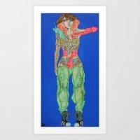 Futuristic Fishnet #2 Art Print