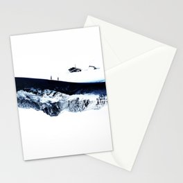 Hiking for Winter Stationery Cards