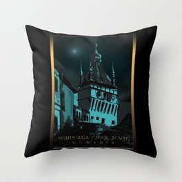 #SighisoaraClockTower II Throw Pillow