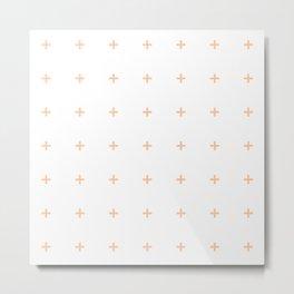 PLUS ((melon on white)) Metal Print