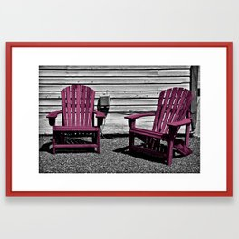 Sit Awhile In Magenta Framed Art Print