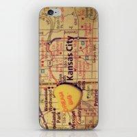 kansas city iPhone & iPod Skins featuring Dream Big Kansas City by CAPow!