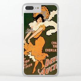 Vintage poster - Devil's Auction Clear iPhone Case