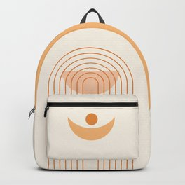 Moon Phases in Neutral Earthy Shades 2 (Rainbow and Moon Abstraction) Backpack