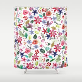 """""""The earth laughs in flowers"""" Shower Curtain"""