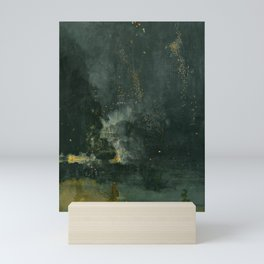 James Abbott McNeill Whistler - Nocturne in Black and Gold Mini Art Print