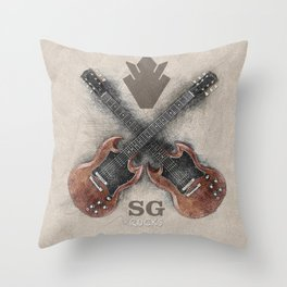 SG Rocks (Gibson SG) Throw Pillow