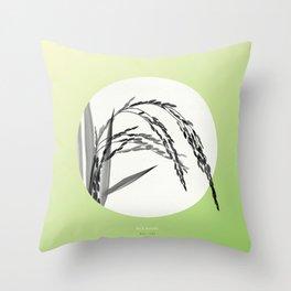 [9.02—9.07] Rice Ripens Throw Pillow