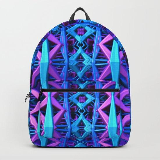 Blue/Purple Metallic Pattern Backpack