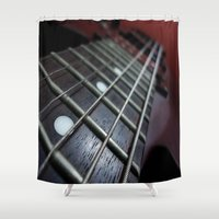 guitar Shower Curtains featuring Guitar by Asylum Photography