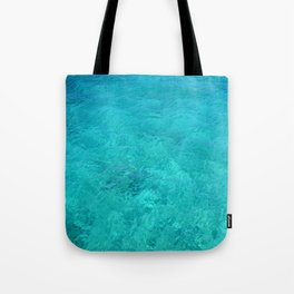 Clear Turquoise Water Tote Bag