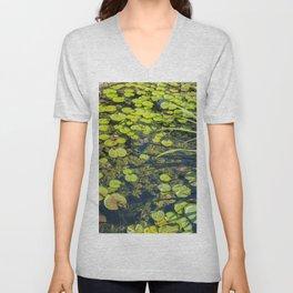 Lilly Pad Pond Unisex V-Neck