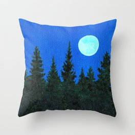 Once Upon a Blue Moon Throw Pillow