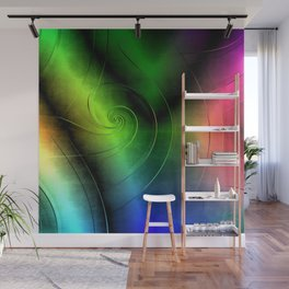 Midnight Curly Wall Mural