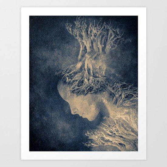 Dark portrait II  (colour option) Art Print