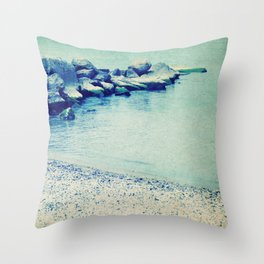 Lake Erie Shore Throw Pillow