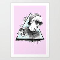 shinee Art Prints featuring SHINee realjonghyun90  by sophillustration