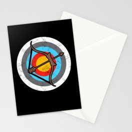 Archery Target Stationery Cards