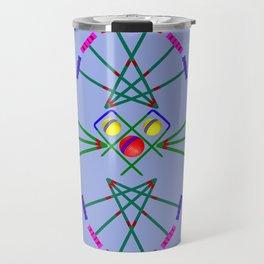 Croquet - Mallets,Balls and Hoops Design Travel Mug
