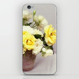 English Garden - Yellow roses bouquet - floral photography iPhone Skin