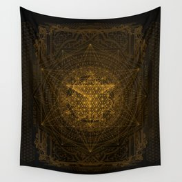 Dark Matter - Gold - By Aeonic Art Wall Tapestry