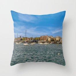 Sheepshead Bay, day, sunny, boats (2020-5-GNY115) Throw Pillow