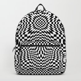 Checkered moire III Backpack