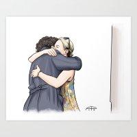 hug Art Prints featuring Hug by Alessia Pelonzi