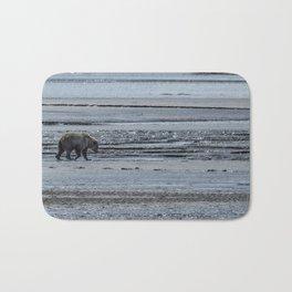 Brown Bear Looking For Clams Bath Mat