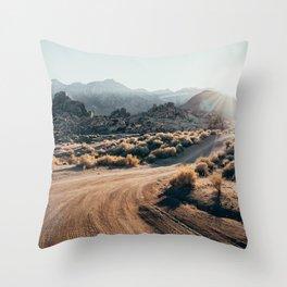 Sierra Nevada Sunset Throw Pillow