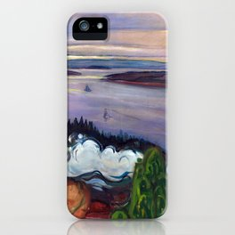 Train Smoke by Edvard Munch iPhone Case