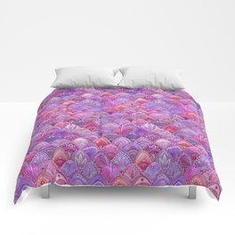 Mermaid Scales - Purple Comforters