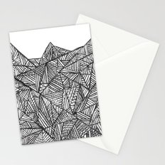 Textured black triangles zentangle pattern Stationery Cards