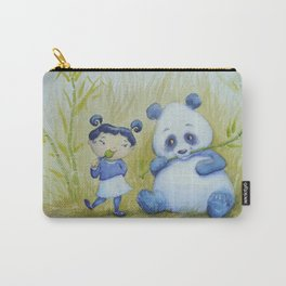 """Panda Pal Pleasantries"" Carry-All Pouch"