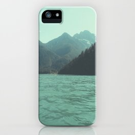 Desolation is beyond the horizon - Diablo Lake iPhone Case