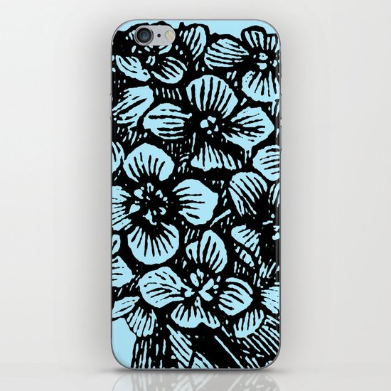 Blue Hydrangea iPhone & iPod Skin